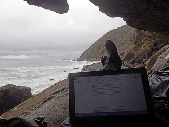 My view from the cave. Of course the rain had to stop briefly while I was taking this image.