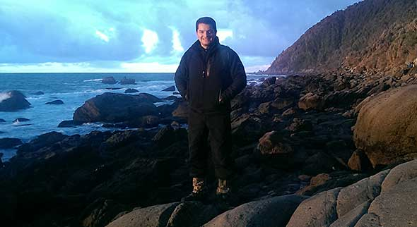 Popi on his first visit to Jackson Head... after a 20 hour journey from Argentina.