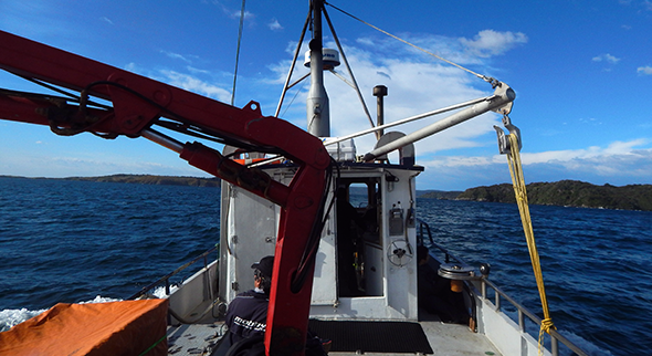 Going into smoother waters of Paterson Inlet