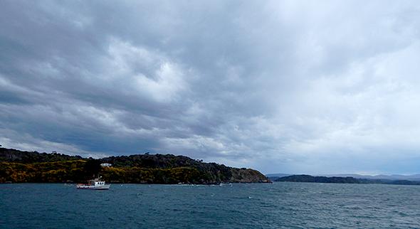 The Stingray under foreboding skies
