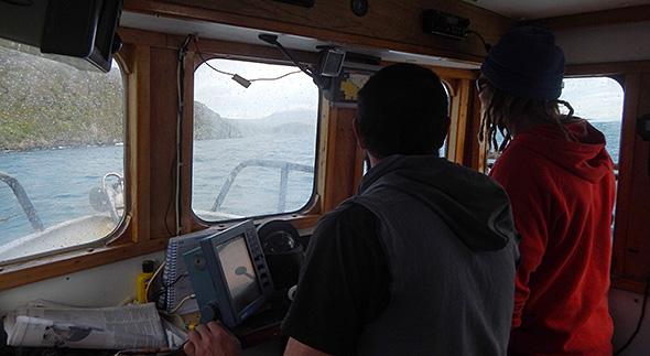Approaching Bungaree Bay