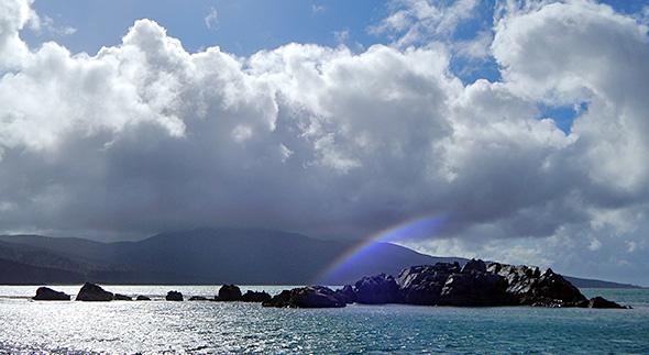 Rainbow over Gull Rock