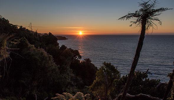 A georgous sunset over Jackson Head.